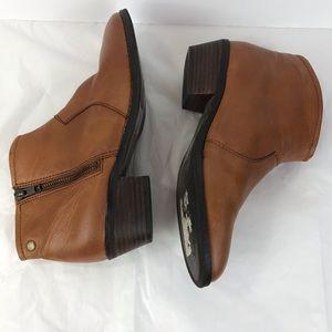 Aldo Ankle Booties Tan Leather Size Zipper SZ 8
